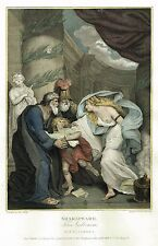 """Boydell's Shakespere - """"TITUS ANDRONICUS (ACT IV -sc I )"""" - Hand-Col Eng - 1792"""