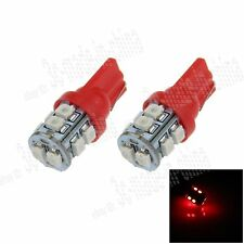 2X Car Ultra Red 10 LED 1210 SMD T10 W5W Bulb Wedge Side Light Bulb Lamp A026