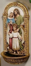 "New! 7"" Holy Family FONT Mary Madonna Joseph Jesus Baby Statue Religious Gift"