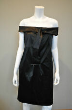 DIANE VON FURSTENBERG DVF Little Black Silk Cocktail Shift Dress sz 8 NWT
