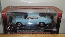 1/18 HIGHWAY 61 1968 PLYMOUTH BARRACUDA POWDER BLUE rd