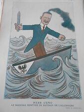 1922 Original Print Herr Cuno le nouveau monteur de Bateaux dessin de A. Barrere