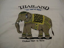 Thailand Elephant Show Surin Land of Smile White T Shirt M