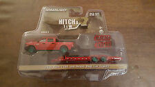 Greenlight Hitch & Tow 9 2016 Dodge Ram Pickup and Flatbed Trailer Green Machine