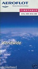 Airline Timetable - Aeroflot - 29/03/00 - Worldwide edition