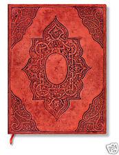 Paperblanks Lined Writing Journal Fortuna Red Via Romana Midi Size 5X7 NWT