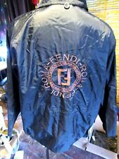 Fendi.Roma.Huge Logo Embroidered Nylon Jacket Coat. Mans L. Made in Italy