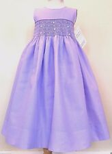 NWT STRASBURG Children Boutique 18M Purple Smocked Cotton Party Dressy Dress