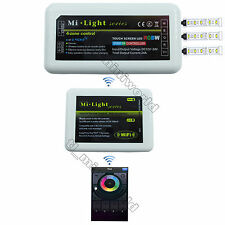 WiFi+1x RGBw led Controller -2.4G RF Android IOS Phone MiLight 4-Zone RGB Dimmer