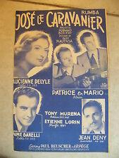 Partition José le Caravanier Delyle Tony Muréna Barelli Deny Patrice & Mario