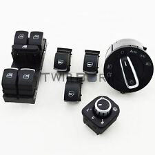 6Pcs Chrome Auto Interior Switch Set For VW Passat B6 Jetta Golf Mk5 Mk6 4 Doors