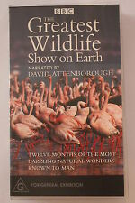 The Greatest Wildlife Show on Earth BBC-CLASSIC RARE VHS PAL  'AS NEW'