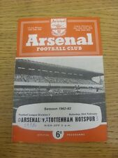 23/02/1963 Arsenal v Tottenham Hotspur  (Light Crease, Score Noted On Cover & In