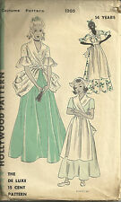 Hollywood Vintage Costume Pattern Teen dress skirt apron blouse Halloween NEW