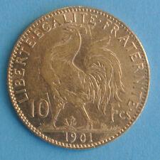 RARE ETAT 10 FRANCS OR TYPE COQ 1901 monnaie partie brillant frappe