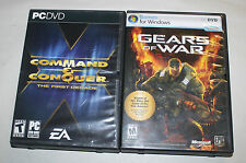 COMMAND & CONQUER 1ST DECADE & GEARS OF WAR PC GAME W/ GAME ELEMENTS RECOIL