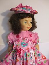 "1959-60 IDEAL 35"" Patti Playpal Doll, Brunette Curly Bob Hair, Blue Green Eyes"