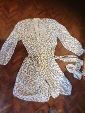 100% seta Wrap Dress Size 38/12