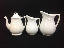 Royal Crownford Weatherby Hanley Teapot Large Medium Jugs Pitchers White Wheat