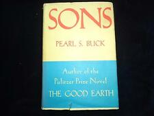 SONS by Pearl S Buck 1932 HARDBACK in DUSTJACKET 1st edition 2nd printing