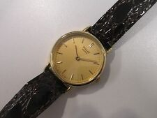 GR3 NOS Vintage Pulsar by Seiko Quartz Gold Leather Dress Watch Women's Ladies
