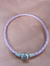 AUTHENTIC PANDORA #509705CMP-S3 PINK LEATHER LARGE SINGLE BRACELET PANDORA LOCK