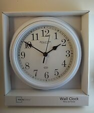 Sterling & Noble Clock Company Kitchen Wall Clock Glass Lens White