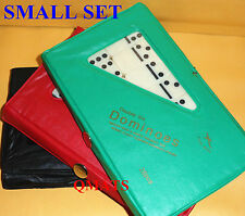 1Mini Dominoes Double Six Set of 28 Ivory TRAVEL CASE GAME Travel WHOLESALE