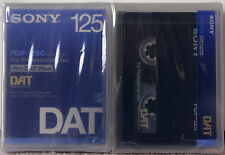 SONY PDP-125C PRO DAT TAPE 2 PACK  (2) 125 min tapes Digital Audio Tape