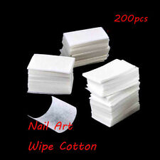 200pcs  Manicure Polish Lint Pads Remover Cotton Nail Art Cleaner Wipes