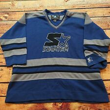 90s VTG STARTER Big Logo HOCKEY Jersey SWEATSHIRT L Hip Hop OG Kings S2 Pullover