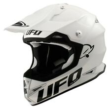 UFO Warrior H1 Base Advanced Helmet- Motocross Enduro- Solid White/ Adult Large