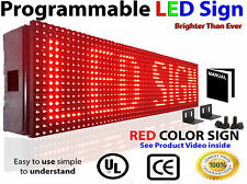 "DIGITAL SCROLLING LED SIGNS 6""X3FT 10MM PROGRAMMABLE OUTDOOR RED MESSAGE BOARD"