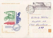 CSSR Tschechoslowakei Postkarte Nr. 222  gest. Briefmarken Bratislava Preßburg