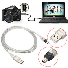 1.5M/5FT USB 2.0 Male to 4 Pin IEEE 1394 Cable FireWire Lead Adapter Converter