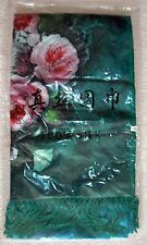 Beautiful 100% Silk Floral Peony Print / Cashmere Reversible Shawl, Wrap, Scarf