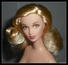 NUDE BARBIE  BLONDE HAZEL EYES CORAL LIPS MATTEL KING KONG DOLL FOR  OOAK