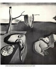 1965- Salvador Dali:Photo-Face/Limp Watch- Surrealism-Vtg Magazine Art Print