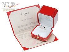 CARTIER TANK SOLITÄR RING 0,25ct DIAMANT 18K WHITE GOLD SOLITAIRE DIAMOND BAGUE