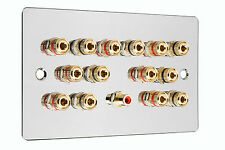 Cromato Lucido 7.1 Surround Sound Speaker Wall Face PLATE NO SOLDERING required