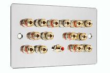 Cromo Pulido 7.1 Surround Sound Speaker Pared cara placa ninguna soldadura requerida