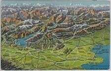 54674 -- CARTOLINA d'Epoca - LAGO di GARDA:  mappa del TRENTINO