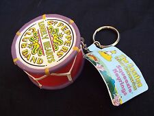 Vintage THE BEATLES Yellow Submarine Squeeie Keyring Keychain Drum Rock Band