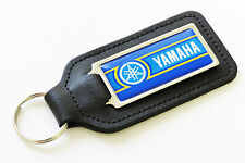 Yamaha Classic Gauloises Style Blue/Yellow Leather Keyring Gift - New/NOS Parts