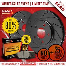 2007 2008 2009 2010 2011 GMC Acadia Black Slot Drill Rotor Max Pads Front