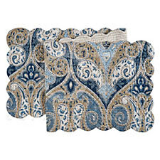 """Nazima 51"""" Quilted Paisley Table Runner"""