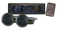 "New PLMRKT14BK Marine Boat MP3 Player Stereo AM FM Radio 4X 6.5"" Speaker Pa"