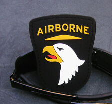 US ARMY 101st AIRBORNE 3D TACTICAL ARMY MORALE BLACK PVC RUBBER VELCRO PATCH