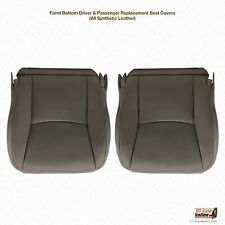 2003 To 2009 Lexus GX470 Diver & Passenger Bottom Vinyl Seat cover's Dark Gray