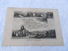 Ancienne Carte géographique Département de la Moselle Levasseur  vers 1850